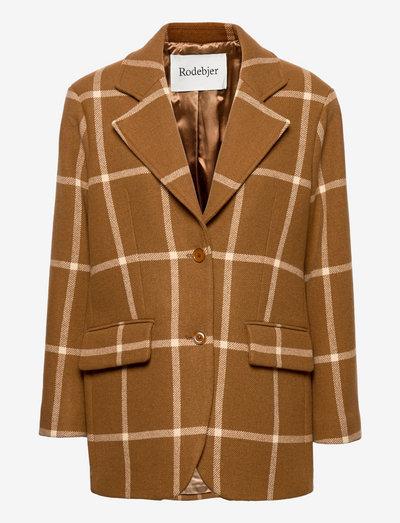 RODEBJER IDONY CHECK - casual blazers - dark camel
