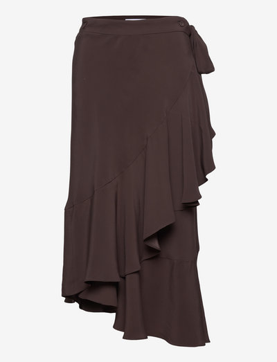 RODEBJER HAZEL TWILL - wrap skirts - truffel
