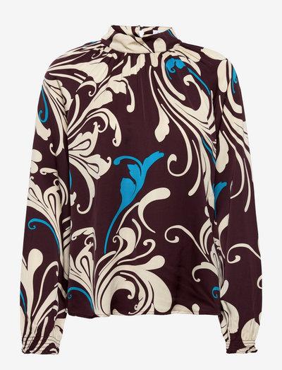 RODEBJER WILDA - long sleeved blouses - dark berry
