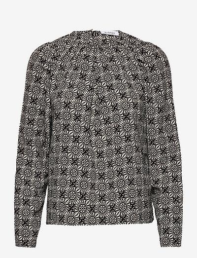 RODEBJER MADOU - blouses met lange mouwen - black