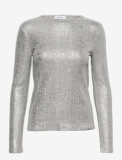 RODEBJER MARGAUX - blouses met lange mouwen - silver