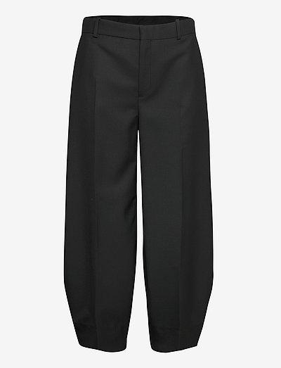 RODEBJER AIA - leveälahkeiset housut - black