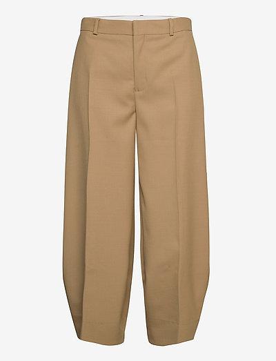 RODEBJER AIA - bukser med brede ben - camel