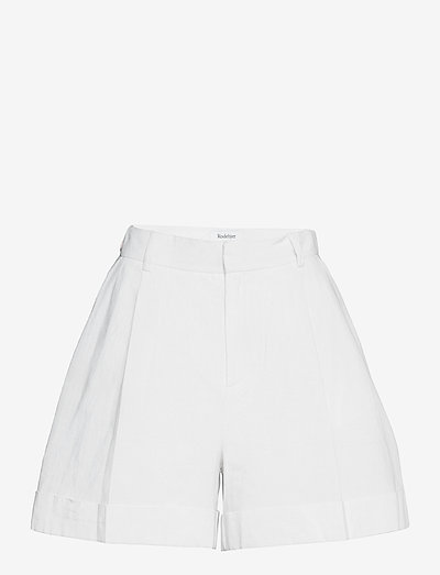RODEBJER MARTA - paper bag shorts - ceramic white