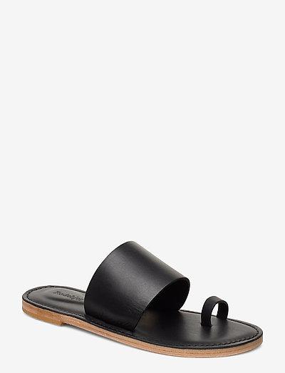 RODEBJER KATE - flade sandaler - black