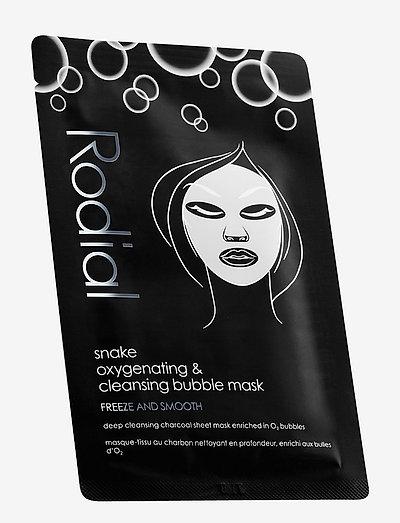 Snake Bubble Mask 8 stk. - sheet mask - black