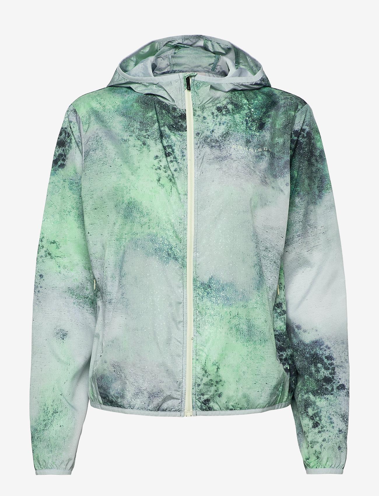 Röhnisch - Printed Wind Jacket - koulutustakit - green space dyed - 0