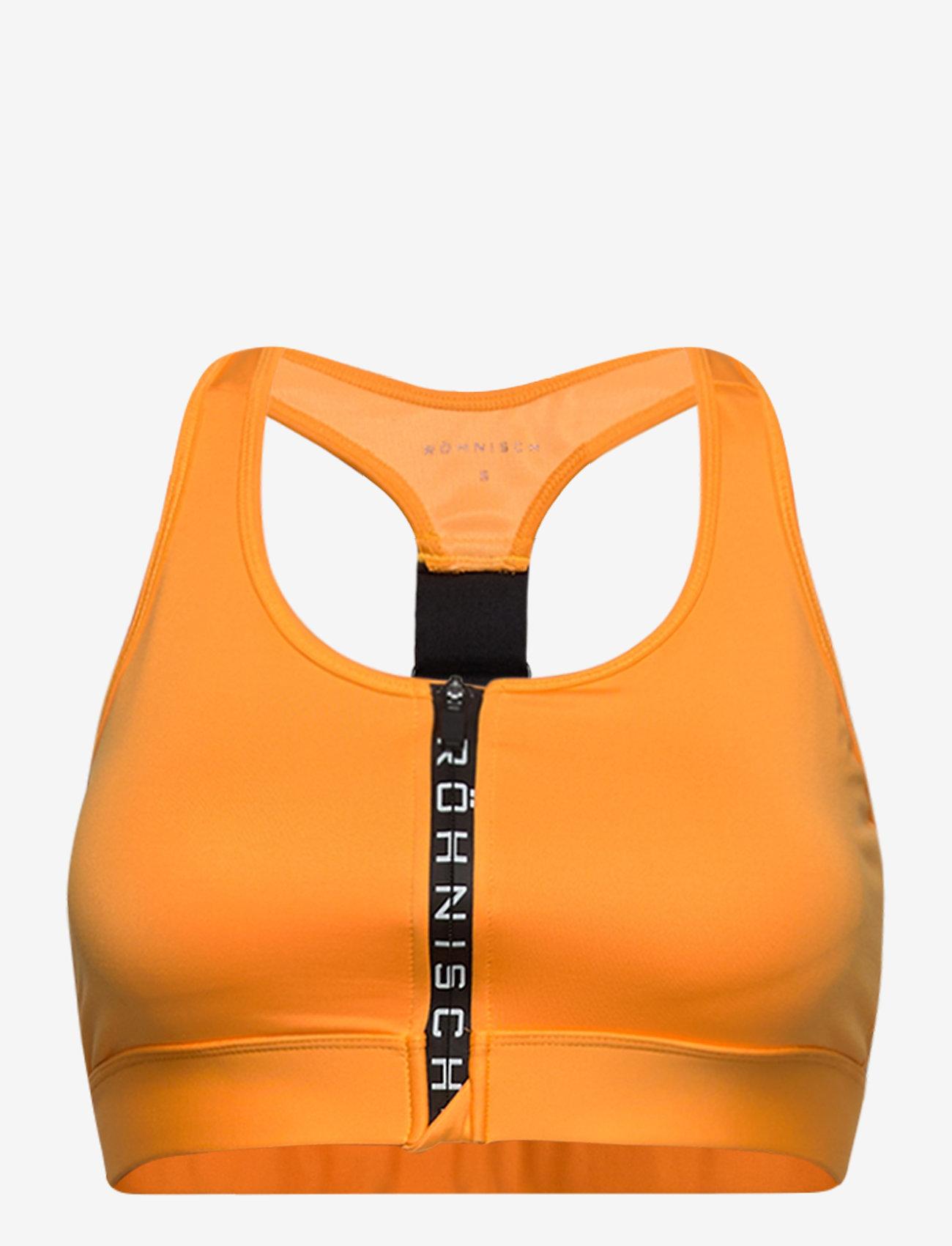 Röhnisch - Zippy Sportsbra - sort bras:high - neon orange - 0