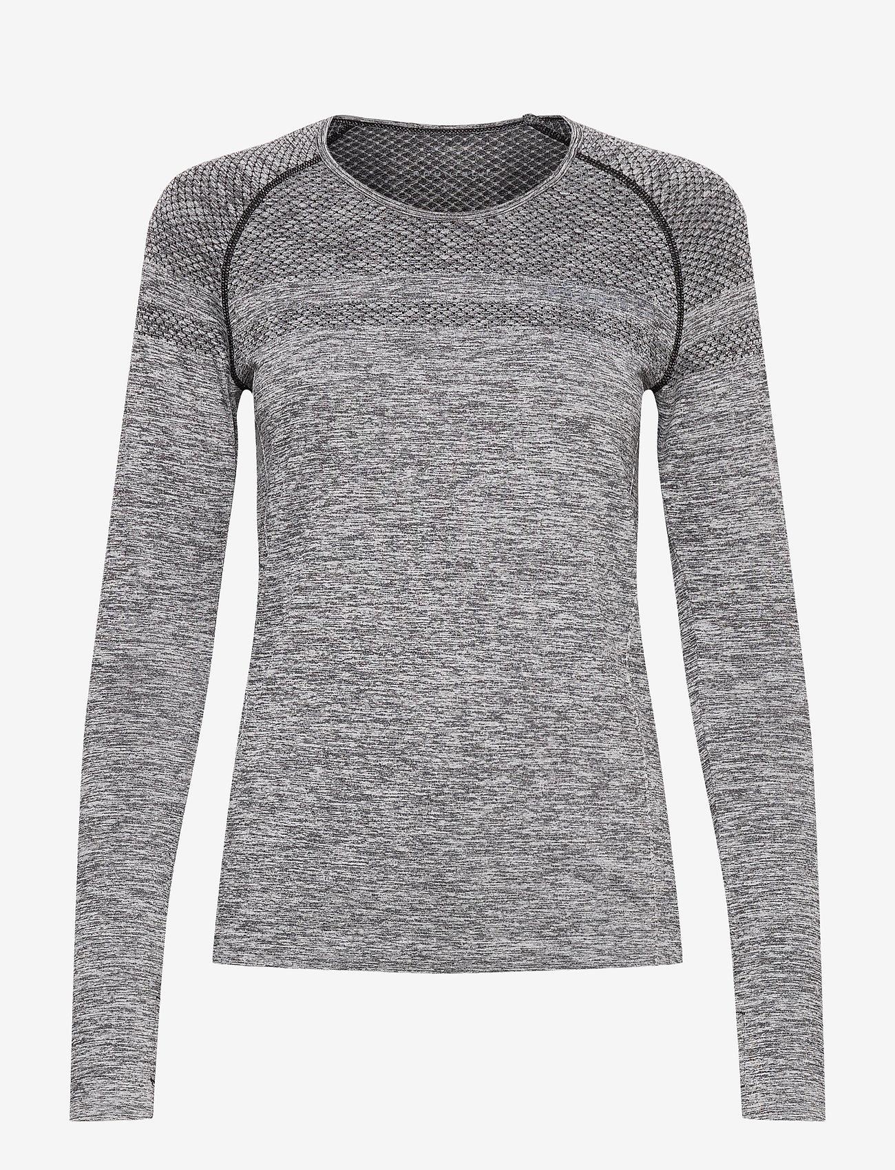Röhnisch - Emma Seamless Long Sleeve - topjes met lange mouwen - grey melange - 0