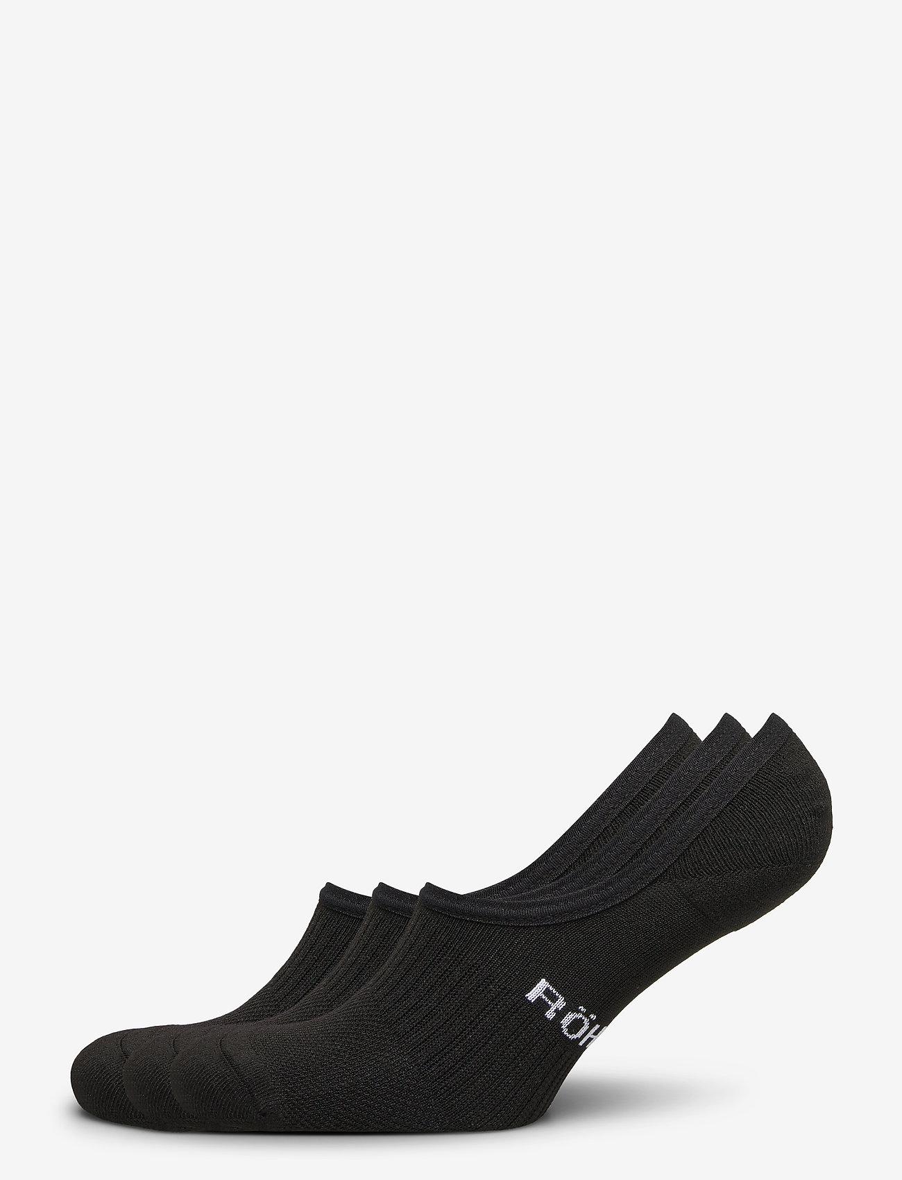 Röhnisch - 2-pack invisible sock - kousen - black - 0
