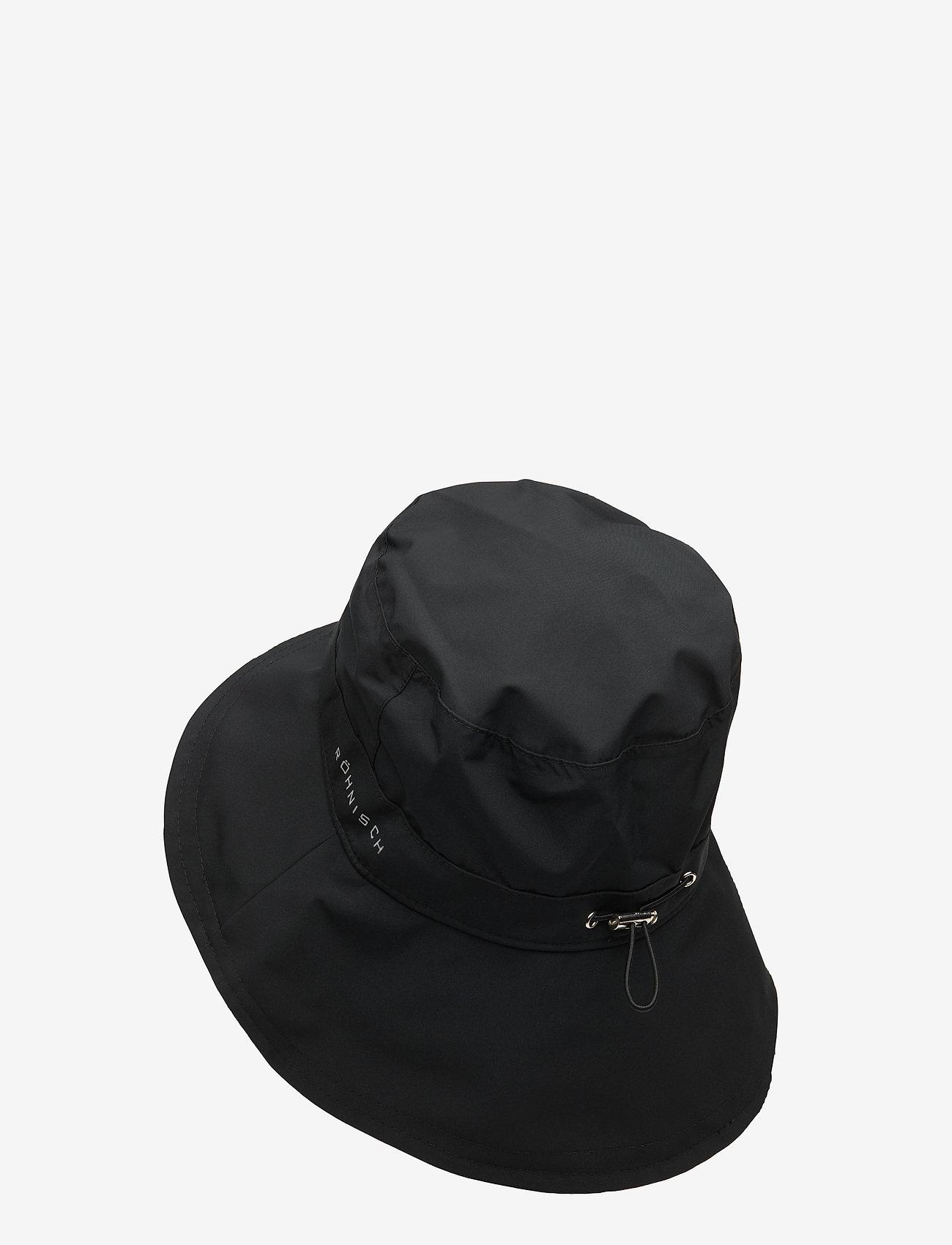 Röhnisch - Rain Hat - bøllehatte - black - 1