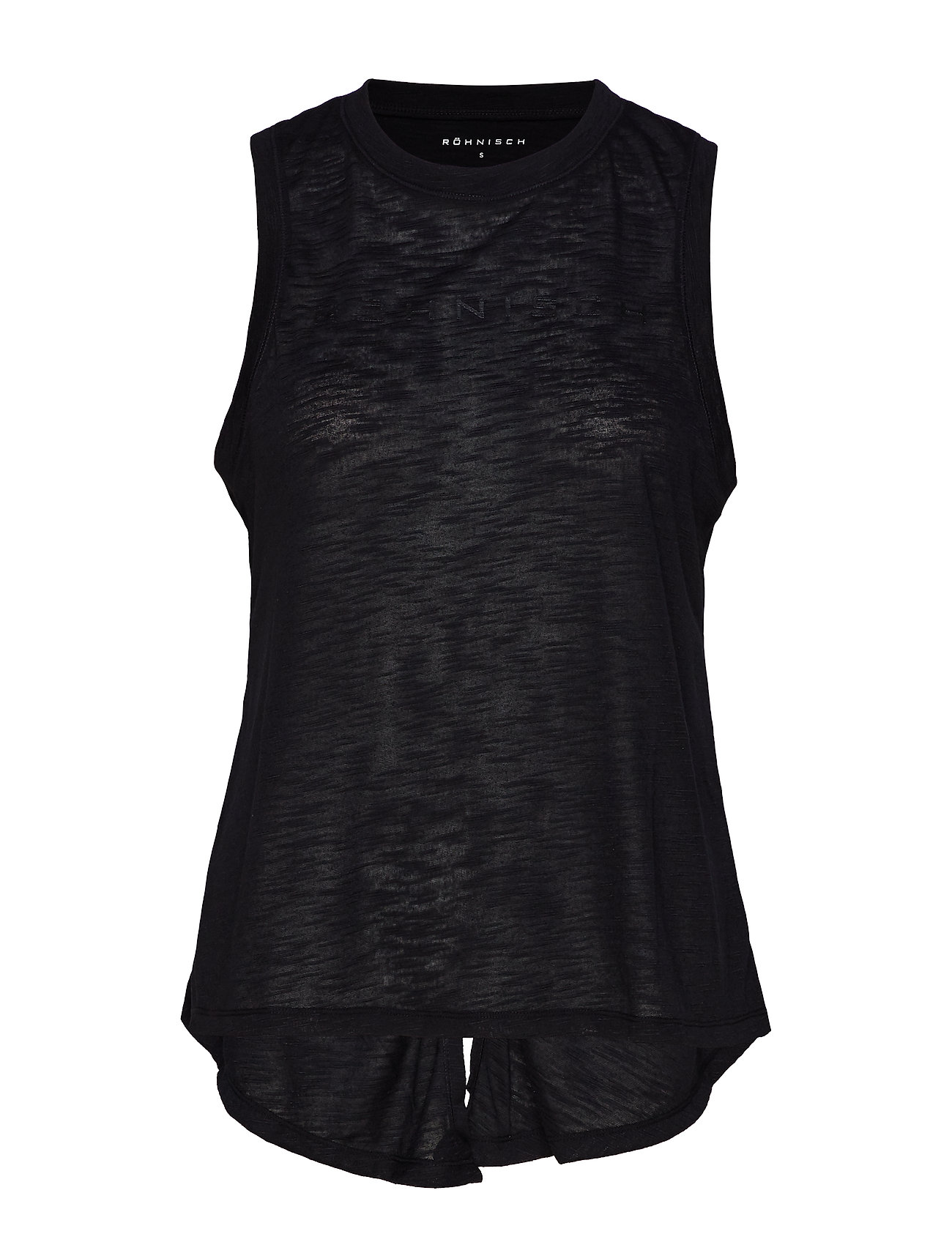 Image of Open Back Singlet Top Ærmeløs Top Sort Röhnisch (3213733339)