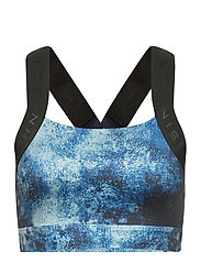 Kay Printed Sports Bra - BLUE SPACE DYED