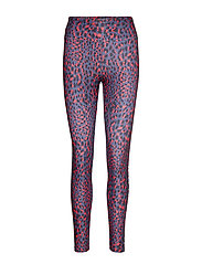 Flattering Printed Tights - CORAL SPOT