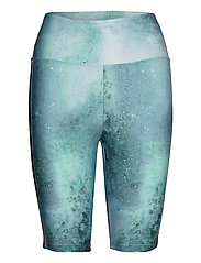 Kay Bike Tights - GREEN SPACE DYED