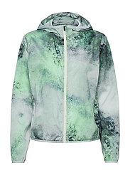 Printed Wind Jacket - GREEN SPACE DYED