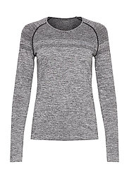 Emma Seamless Long Sleeve - GREY MELANGE