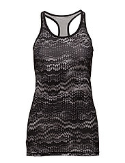 LONG TANK TOP AOP - BLACK OCEAN RIPPLE