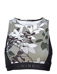 COMBAT SPORTS TOP - GREEN LEAVES