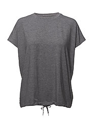 TO HATHA LOOSE TEE - GREY MELANGE