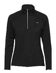 WARMING HALF ZIP - BLACK