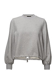 COMFY CROPPED TOP - GREY MELANGE