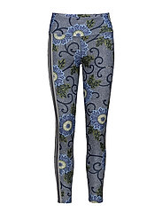 FLORAL ATH TIGHTS - BLUE MAASAI FLOWER
