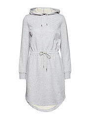 SWEAT DRESS - GREY MELANGE