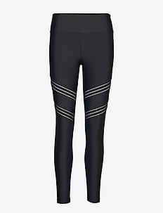 Elevate Stripe Tights - BLACK