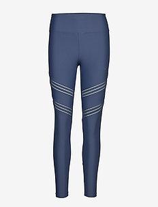 Elevate Stripe Tights - DUSTY BLUE