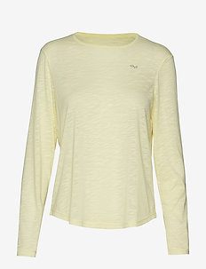 Sheer Long Sleeve Top - POWDER YELLOW