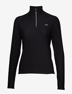 Thermo Rib Half Zip - BLACK