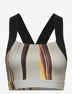 Kay Printed Sports Bra - sort bras:high - laser beam print