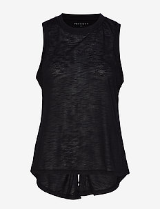 Open Back Singlet - BLACK