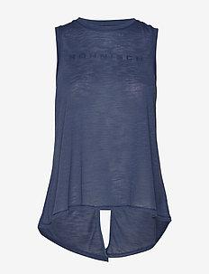 Open Back Singlet - DUSTY BLUE
