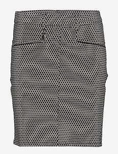 Smooth Skort - szorty golfowe - black/white check