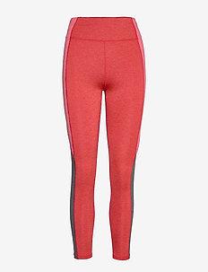 Blocked Melange Tights - running & training tights - peach blossom