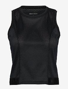 Mesh Short Top - tank tops - black