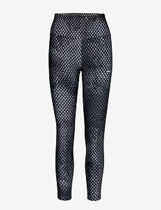 Flattering Stripe Tights - løbe- og træningstights - etchy black