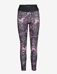 Flattering Wrap Tights - running & training tights - sketch pale pink