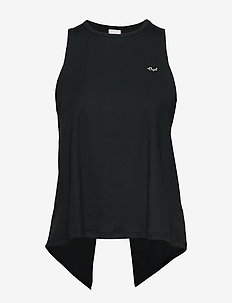 Logo Ribbed  Singlet - tank tops - black