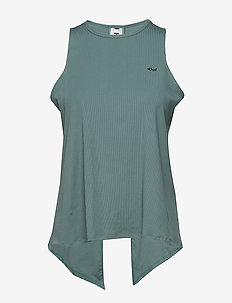 Logo Ribbed  Singlet - SEA GREEN