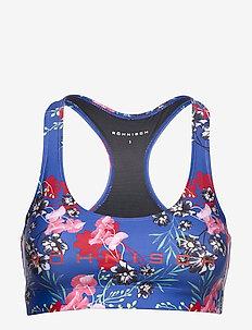 Stripe Sports Bra - sport bras: medium - hermosa blue