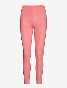 Gloss Effect Tights - juoksu- & treenitrikoot - embossed peach stream
