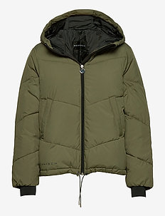 Alba Puffer Jacket - insulated jackets - dusty olive