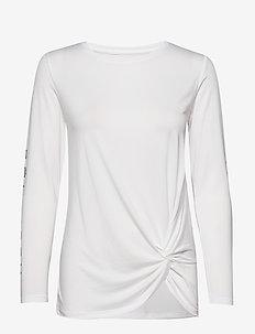Knot Long Sleeve - bluzki z długim rękawem - white