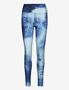 Flattering Keira Printed Tights - running & training tights - blue space dyed