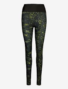 Flattering Keira Printed Tights - lauf- & trainingstights - neon sun mineral