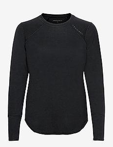 Clara Loose Long Sleeve - langarmshirts - black