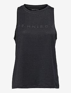 Clara Loose Singlet - tank tops - black